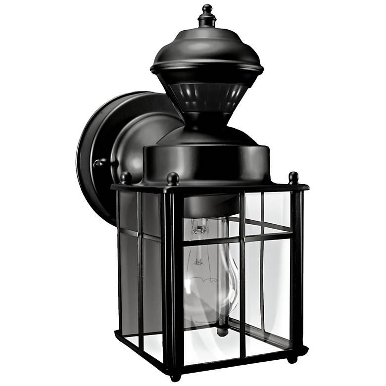 "Bayside 9 1/2"" High Motion Sensor Black Outdoor Wall Light"