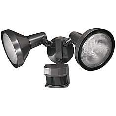 Motion sensor outdoor light fixtures lamps plus two light bronze 240 degree motion sensor security light aloadofball Choice Image