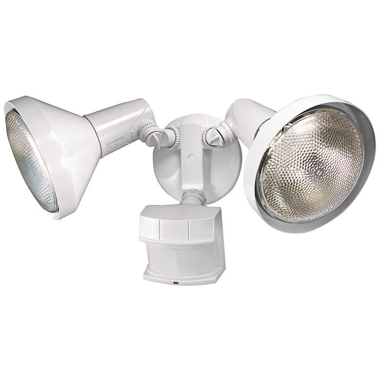 Two-Light White 240-Degree Motion Sensor Security Light