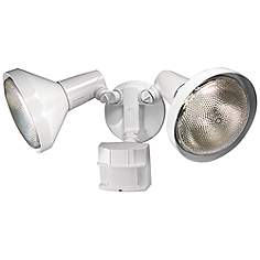 Motion sensor outdoor light fixtures lamps plus two light white 180 degree motion sensor security light aloadofball Images