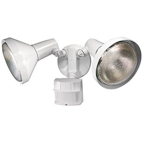 Two-Light White 180-Degree Motion Sensor Security Light