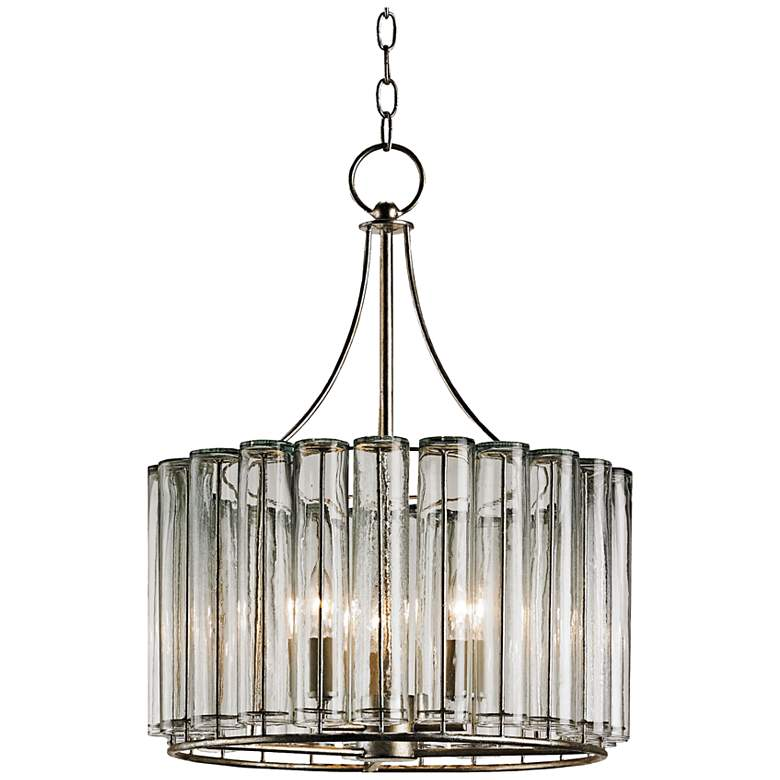 """Currey and Company Bevilaqua 18"""" Wide Silver Chandelier"""
