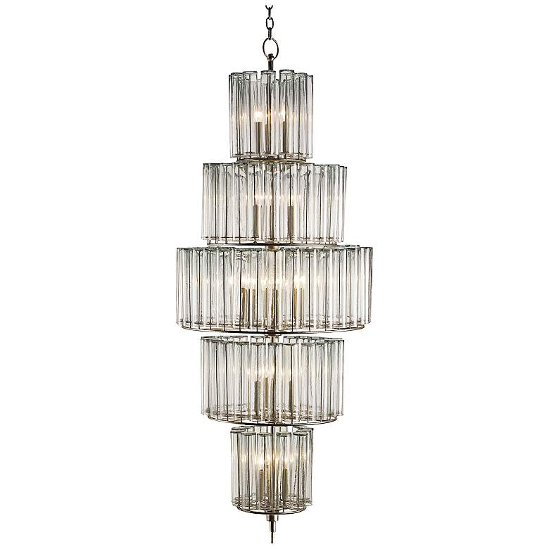 """Currey and Company Bevilaqua 68"""" High Silver Chandelier"""