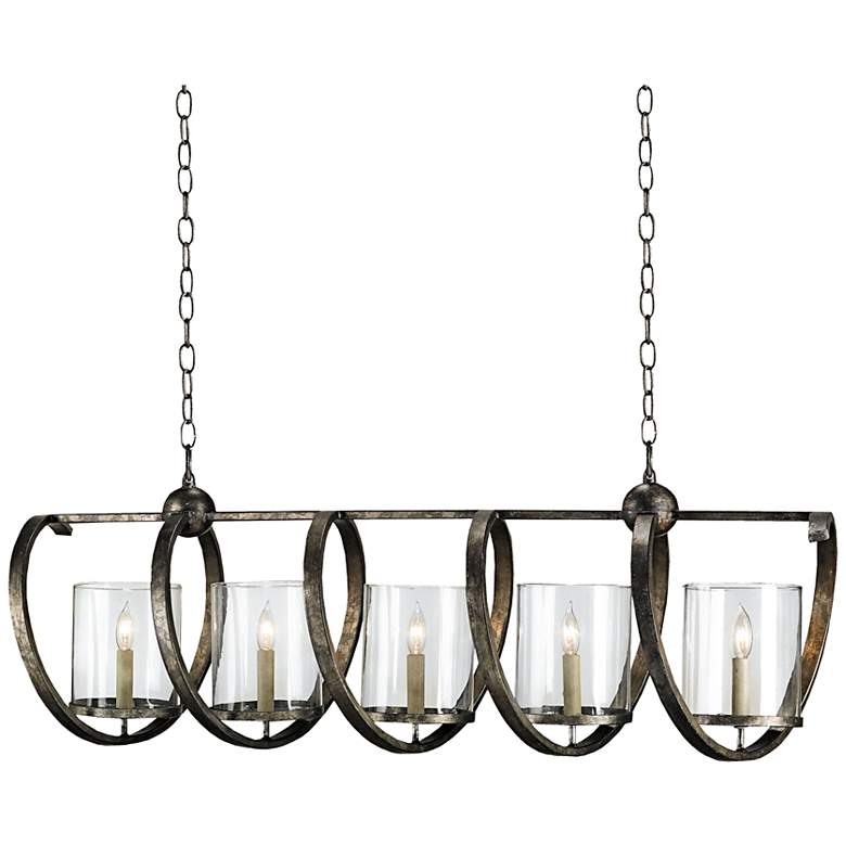 """Currey and Company Maximus 47"""" Wide Bronze Chandelier"""
