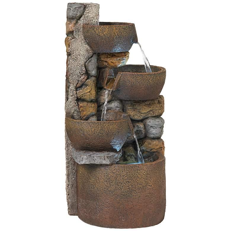"""Ashmill Urn 29"""" High Rustic Garden Fountain"""
