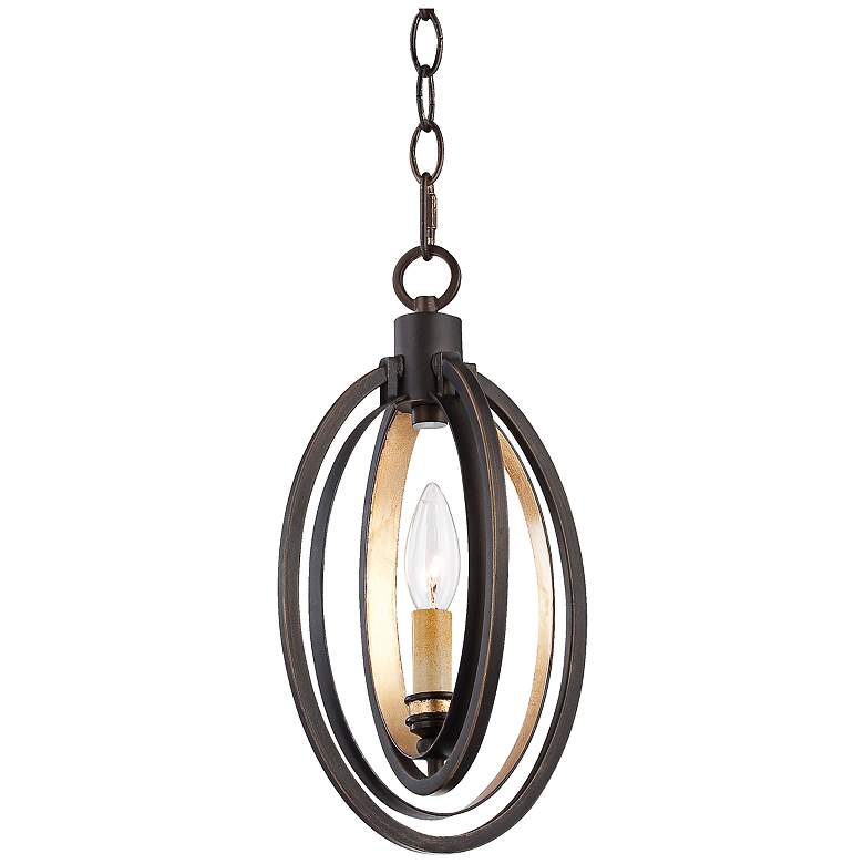 """Eurofase Infinity 7"""" Wide Bronze and Gold Pendant"""