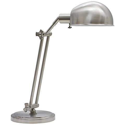 House of Troy Addison Adjustable Satin Nickel Desk Lamp