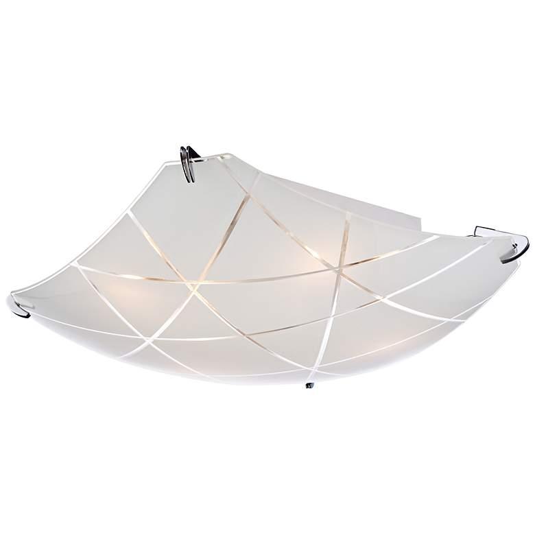 """Lattice 16 1/2"""" Wide Contemporary Chrome Ceiling Light"""