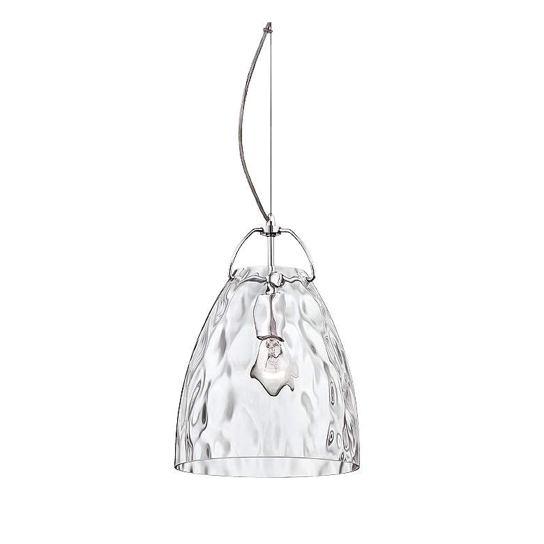 "Eurofase Amero 9 3/4"" Wide Clear Glass Chrome Mini Pendant"