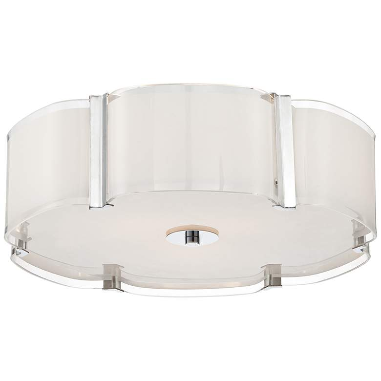 "Possini Euro Design Flair 16 3/4"" Wide Chrome Ceiling Light"