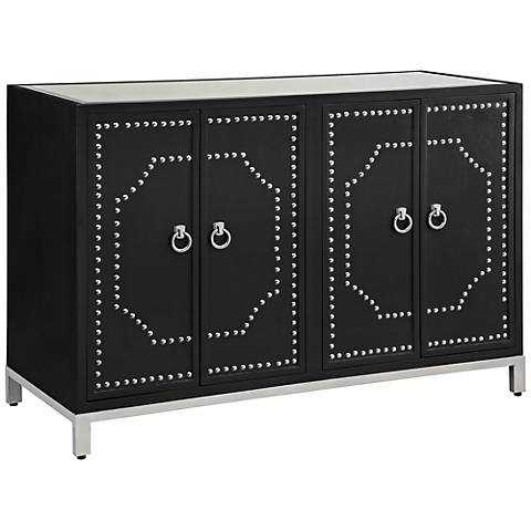 Crestview Collection Roxbury Nailhead Black Sideboard