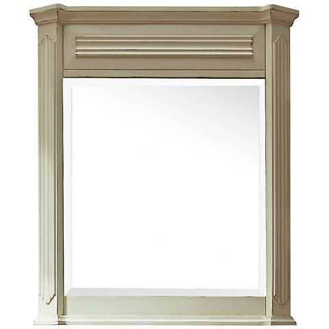 """Avanity Kingswood White 30"""" x 35"""" Wall Mirror"""