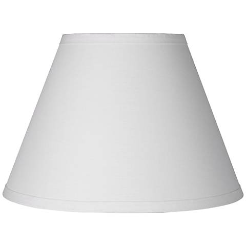 White Table Lamp Clip Shade 6x12x8.5 (Clip-On)