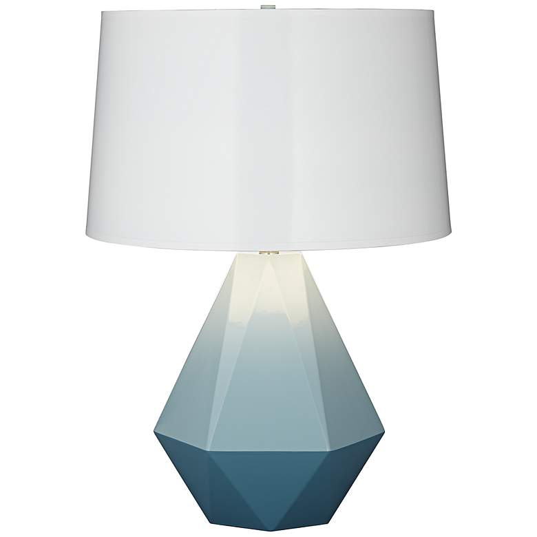 Robert Abbey Delta Duo Turquoise Table Lamp