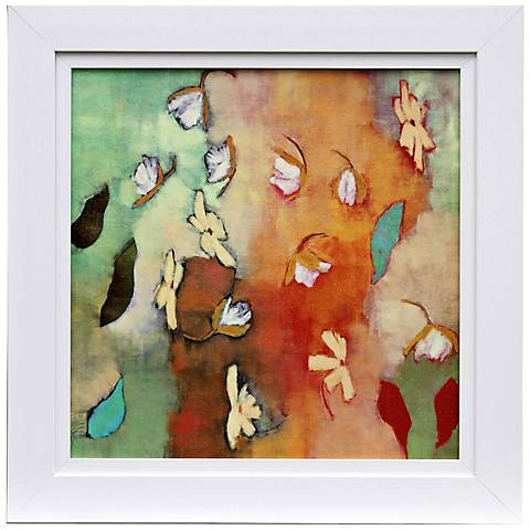 "Floating World II 31"" Square Framed Watercolor Wall Art"