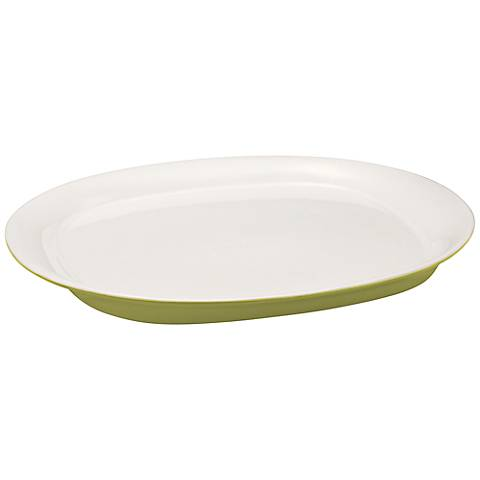 """Rachael Ray Round and Square Green 14"""" Round Platter"""