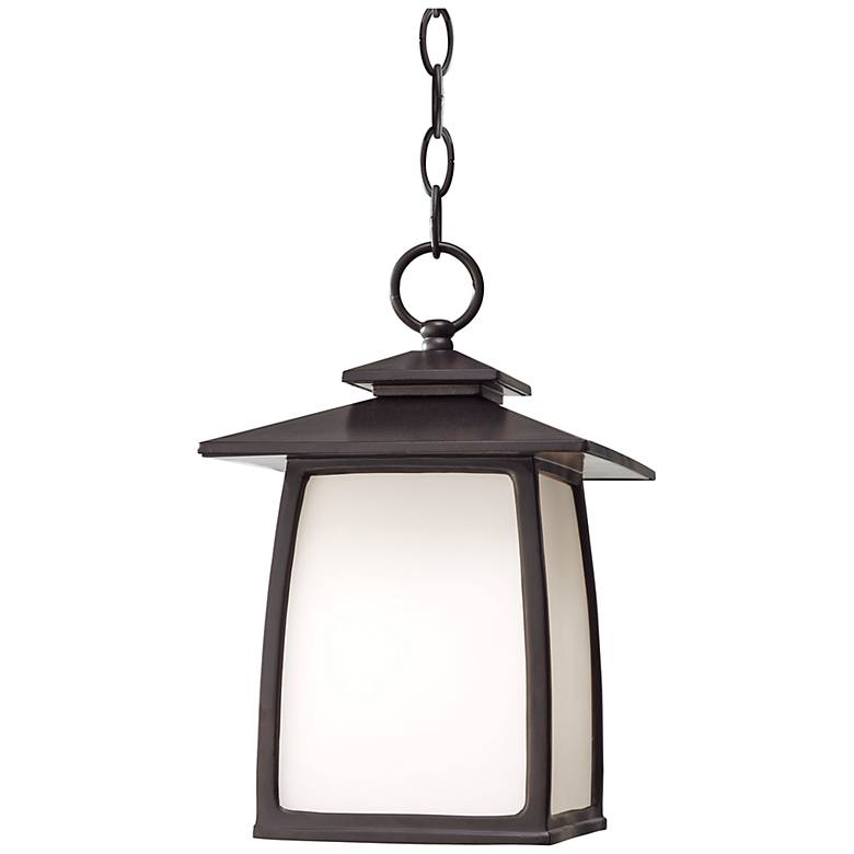 "Feiss Wright House 12 1/4"" High Bronze Outdoor Hanging Light"