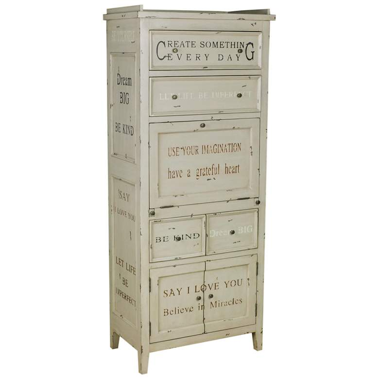 "Julianne 64"" High Inspirational Accent Cabinet Writing Desk"