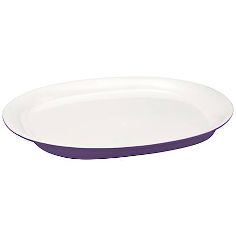 """Rachael Ray Round and Square Purple 10""""x14"""" Oval Platter"""