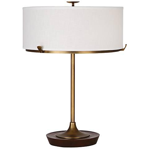 Robert Abbey Edwin Aged Brass Table Lamp