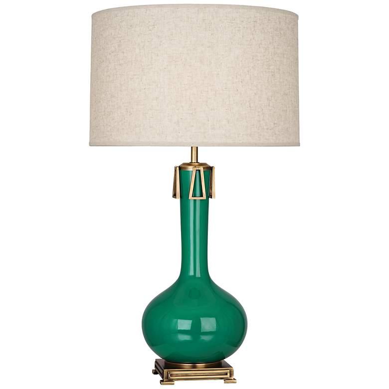 Robert Abbey Athena Glazed Ceramic Emerald Table Lamp