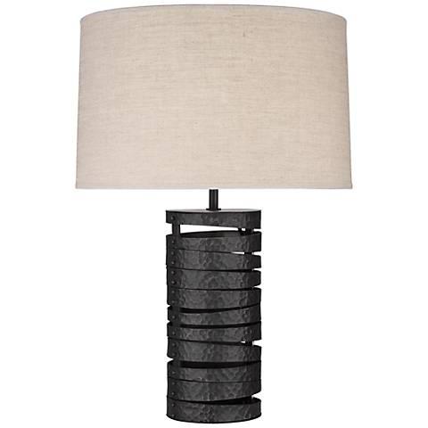 Robert Abbey Trenton Industrial Wrought Iron Table Lamp