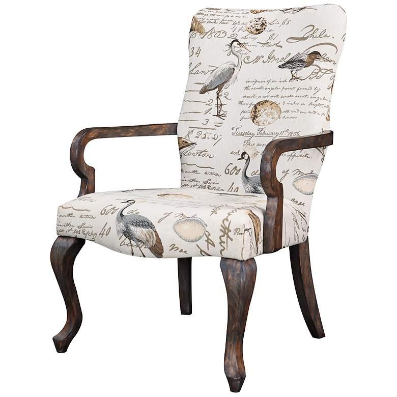 Arnau Birdsong Sea Mist Reclaimed Gray Accent Chair