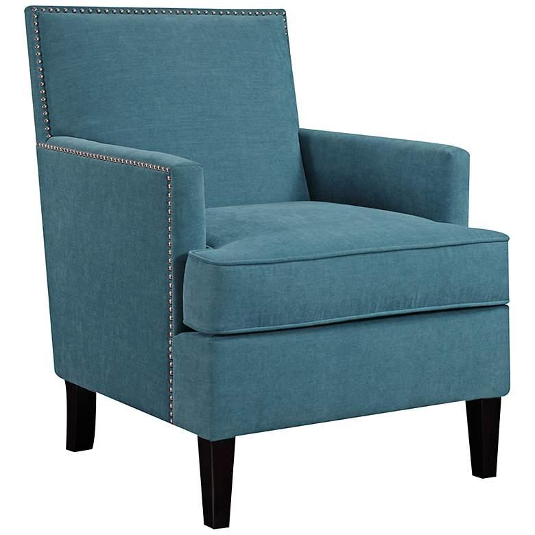 Charlie Blue Track Arm Club Chair