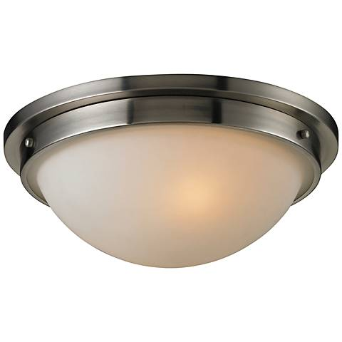 """Tassoni Collection 13"""" Wide Brushed Nickel Ceiling Light"""
