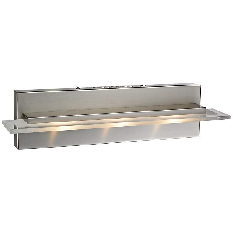 "Linton Collection 18"" Wide Satin Nickel LED Bathroom"
