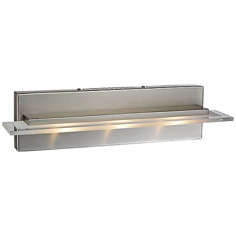 "Linton Collection 18"" Wide Satin Nickel LED Bathroom Light"