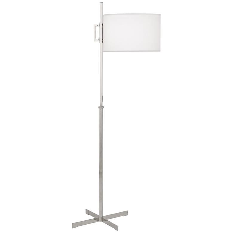 Robert Abbey Max Polished Nickel Modern Floor Lamp