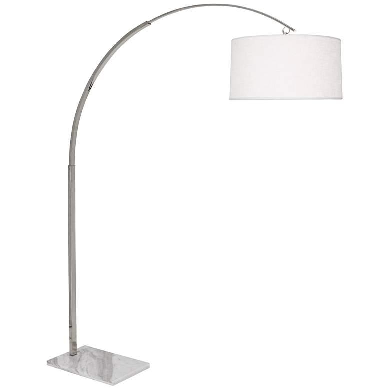 "Robert Abbey Archer 80 1/2"" High Nickel Arc Floor Lamp"