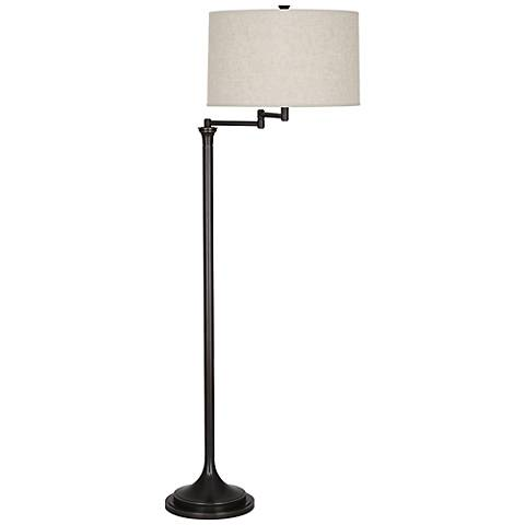 Robert Abbey Sofia Patina Bronze Swing Arm Floor Lamp