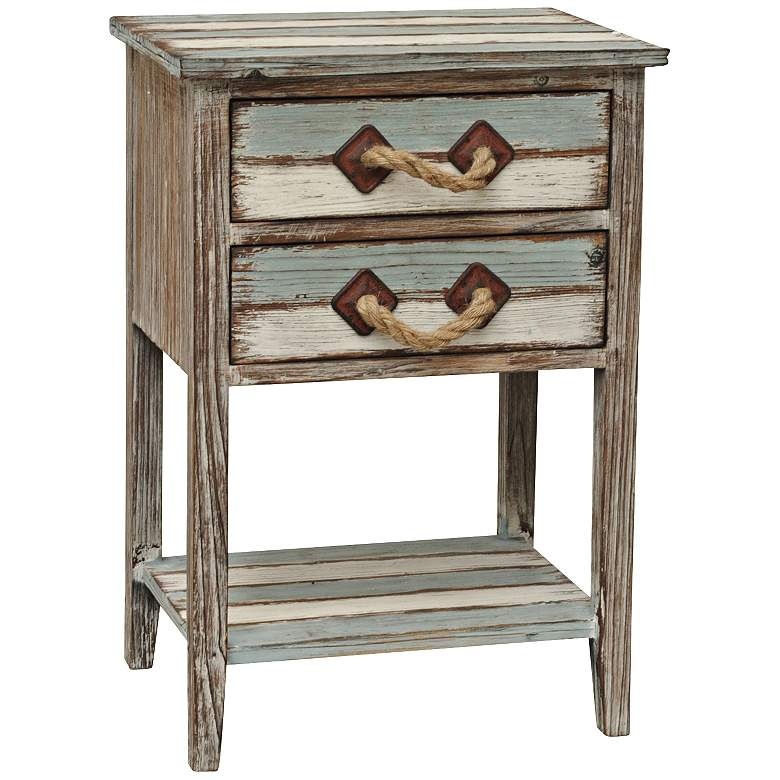 """Nantucket 18"""" Wide Weathered Wood Accent Table"""