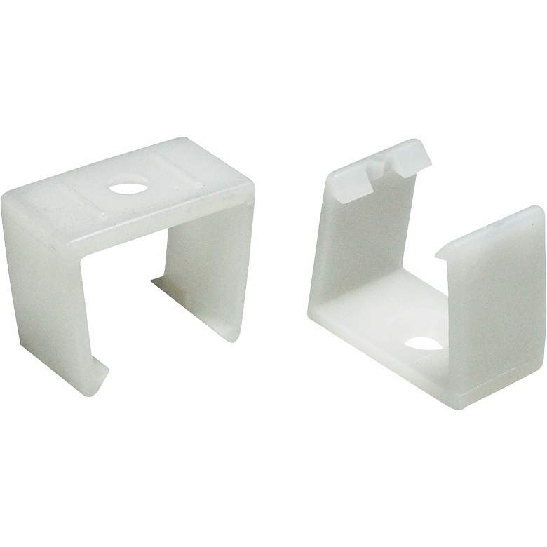 "Nora Lighting Ultra Slim Set of 2 White ""U"" Mounting Clips"