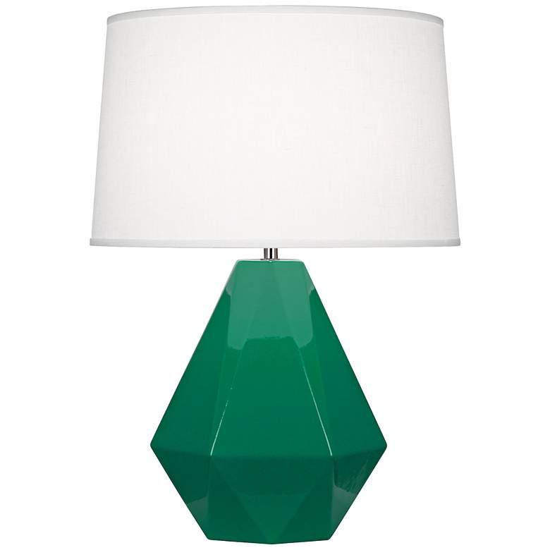 Robert Abbey Delta Emerald Glazed Table Lamp