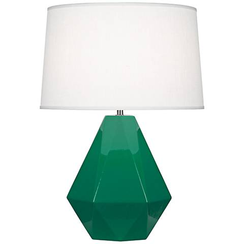 Robert Abbey Delta Emerald Glazed Table Lamp