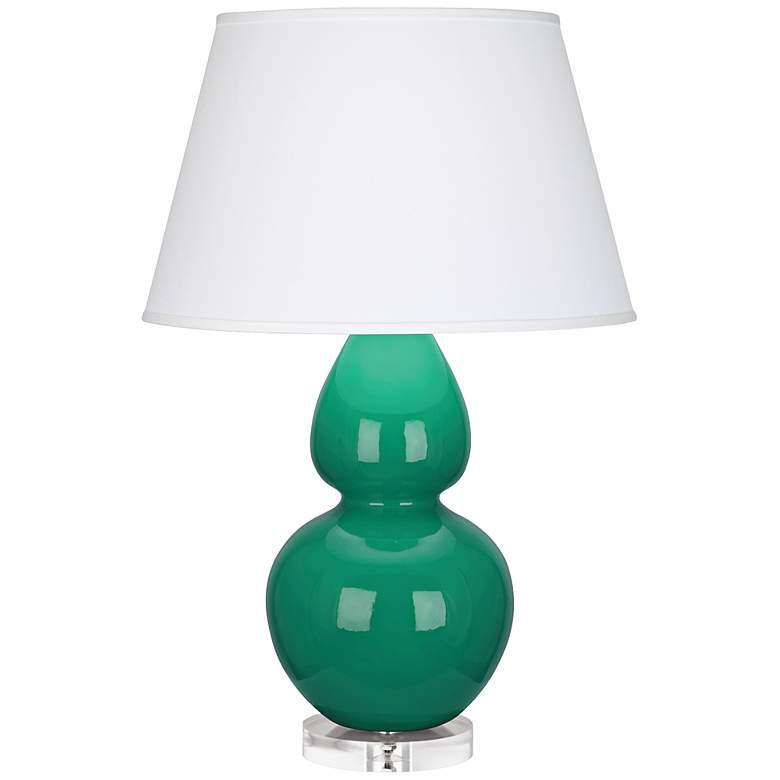 Robert Abbey Double Gourd Emerald Green Ceramic Table Lamp