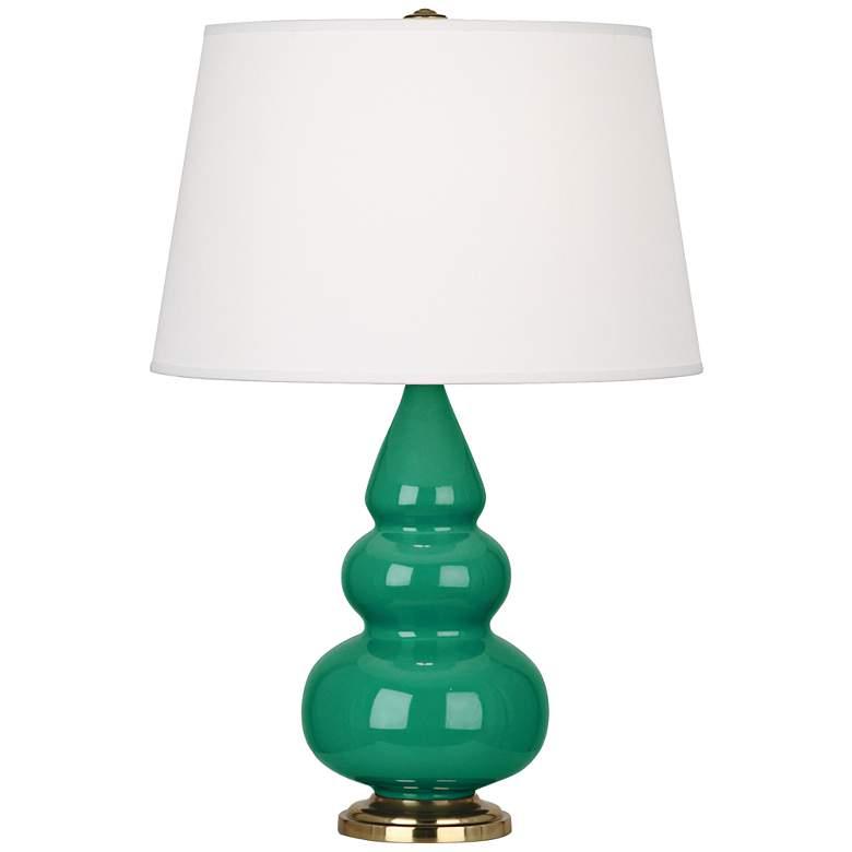 Robert Abbey Emerald Glazed Triple Gourd Table Lamp