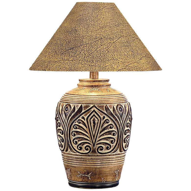 Brown Desert Sand Handcrafted Southwest Table Lamp