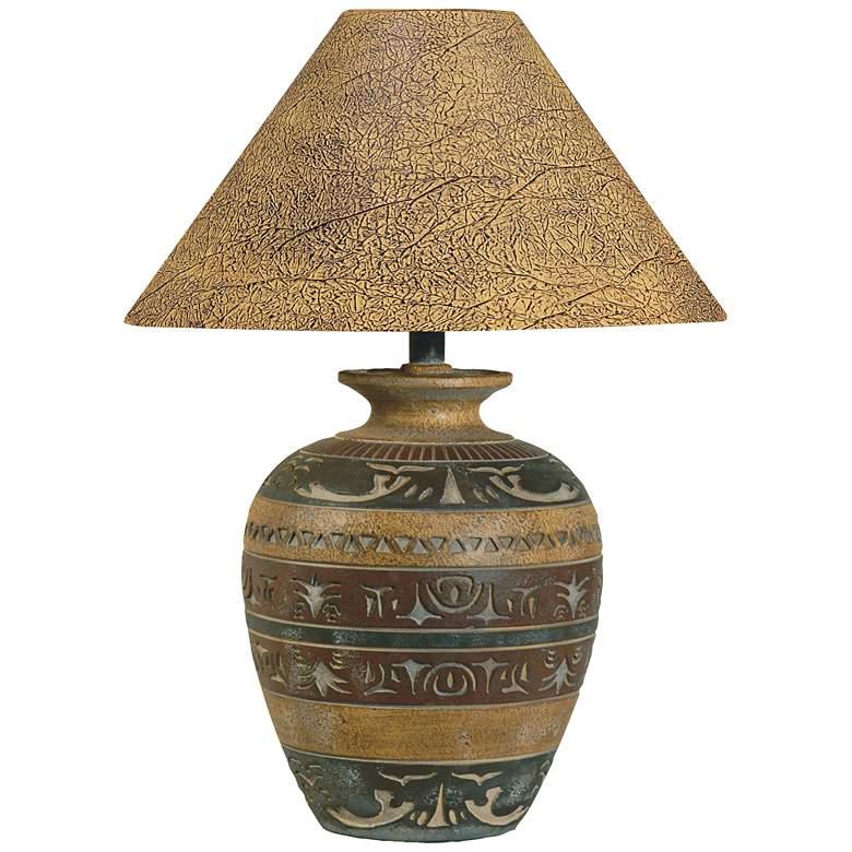 Haze Saddle Handcrafted Southwest Table Lamp
