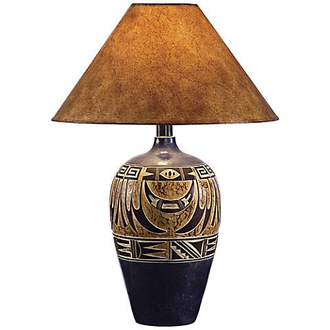 Southwest Navy Handcrafted Southwest Table Lamp