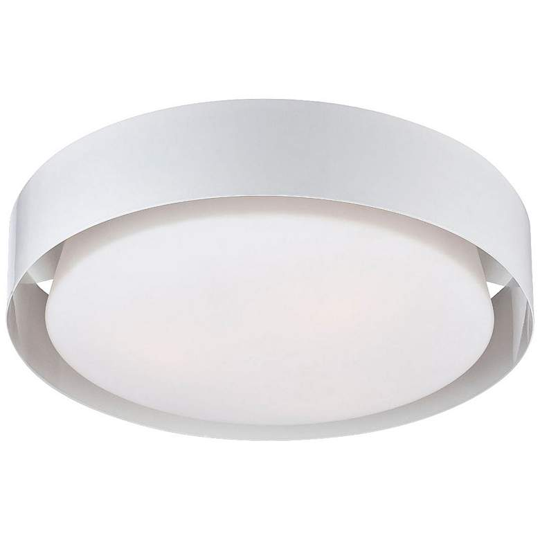 "Saturn Collection 15 1/2"" Wide White Ceiling Light"
