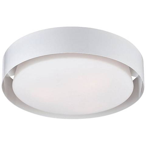 """Saturn Collection 15 1/2"""" Wide White Ceiling Light"""