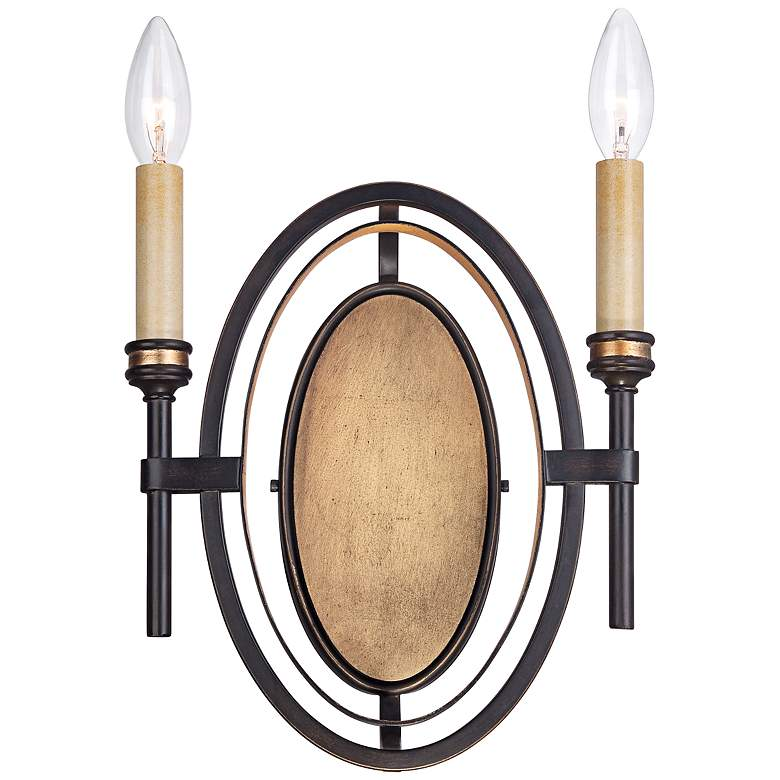 """Infinity Collection 14"""" High Oil-Rubbed Bronze Sconce"""