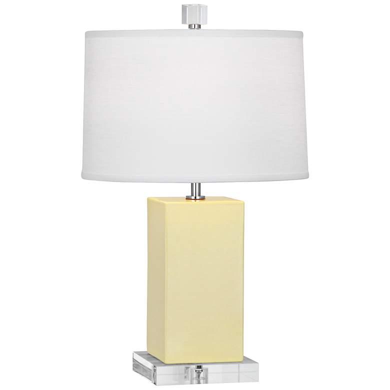 Robert Abbey Harvey Butter Glazed Ceramic Accent Lamp