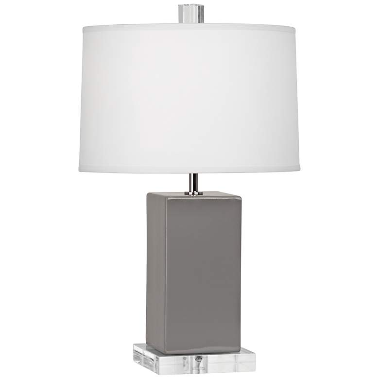 "Robert Abbey 19 1/4""H Harvey Smoky Taupe Ceramic Accent Lamp"