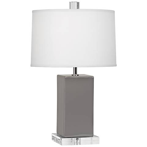 """Robert Abbey 19 1/4""""H Harvey Smoky Taupe Ceramic Accent Lamp"""
