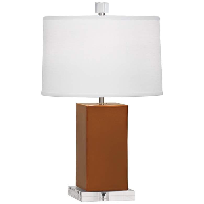 Robert Abbey Harvey Cinnamon Glazed Ceramic Accent Lamp